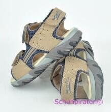 Superfit Sandale in sand/d.blau, Gr. 32 + 34-35