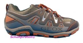 Geox Halbschuhe Kordelzug in military/orange Gr. 40