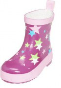 Playshoes halbhoher Gummistiefel Sterne pink, Gr. 19-25