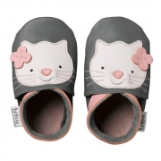 "Hausschuhe von Bobux ""Katze"" in L + 4XL in grau"