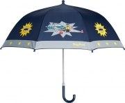 Playshoes Kinder Regenschirm Polizei  blau