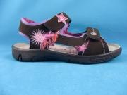 Ricosta Sandale SHARI braun mit rosa Sterne, Gr. 26 + 31 + 32 + 35