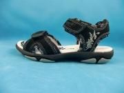 Superfit Sandale für Mädchen 2-fach Klettverschluß in schwarz Gr. 32-33