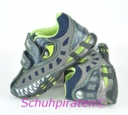 Geox Halbschuhe mit Blinkfunktion Krokodil grau, Gr.34