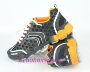 Geox Sport Halbschuhe schwarz/orange, Gr. 34 + 41
