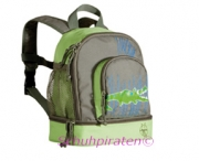 Lässig Kindergarten-Rucksack in grün/oliv mit Krokodil Druck