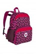 Lässig Kindergarten Rucksack in rot/pink Punkte