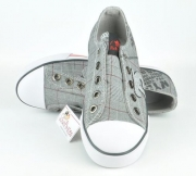 Lico Chuck Slip in grau kariert Fly Low VS, Gr. 38-39