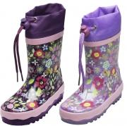 Playshoes Gummistiefel Flora lila, Gr. 20/21 + 24/25