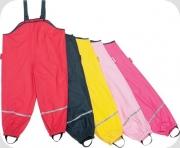 Playshoes Kinder Regen Latzhose mit Textilfutter rot, Gr. 92