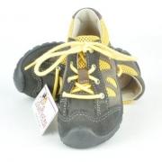 "Ricosta trendige Sneaker / Halbschuhe ""BANDY"" in zinn (grau)/gelb zum Schnüren Gr. 20+22"