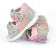 Ricosta Lauflernschuhe / Sandale NADDI in grau/rosa, Gr.  24