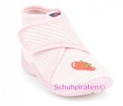 Rohde Hausschuhe rosa/weiß Karo, Gr. 20 + 21 + 23