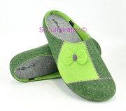Rohde warme Hausschuhe Pantoffeln grün, Gr. 36-37 + 39-41