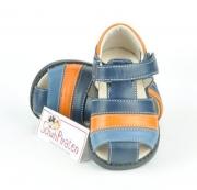 """See Kai Run trendige Lauflernschuhe / geschlossene Sandale Modell """"DARREL"""" in dunkelblau/blau/orange mit Klettverschluß, Gr. 20 / 21"""
