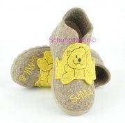 Superfit Hausschuhe beigebraun Smile-Bär, Gr. 22-23 + 25
