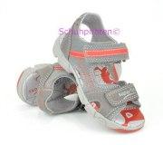 Superfit Sandale grau/rot Nubuk/Velour, Gr. 25-35