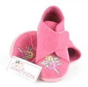 Superfit Hausschuhe in pink Filz mit tanzender Fee, Gr. 19 + 20