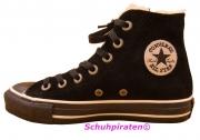 Converse Chuck Velour-Leder in schwarz m.Teddyfutter, Gr. 35