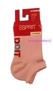 Esprit Kinder Sneaker-Socken in rosa Doppelpack,Gr.23-26+27-30