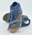Geox Römer Sandale jeansblau mit Fransen, Gr.  37 + 38