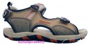 Geox Sandale beige/orange 3-fach Klettverschluß, Gr. 32 + 37
