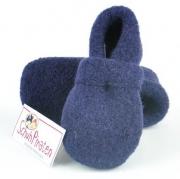 Haflinger warmer Baby Hausschuhe Lorenz dunkelblau, Gr.18+19