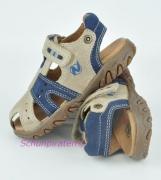Naturino Zehenschutz-Sandale sand/blau, Gr. 26-28 + 32