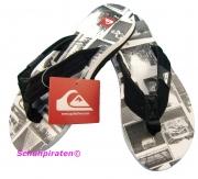 Quiksilver Flip Flop Badeschuhe schwarz/weiß, Gr. 31+32+40