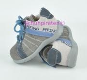 Ricosta Lauflernschuhe PAUSKI grau/beige/blau, Gr. 20