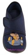 Superfit Hausschuh dunkelblau Maus im Flieger, Gr. 18