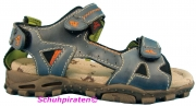 Capt´n Sharky Sandale in jeansblauen Leder, Gr.  31