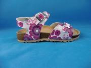 Sandale (Hausschuh) in weiß/pink, Gr.  35 + 37