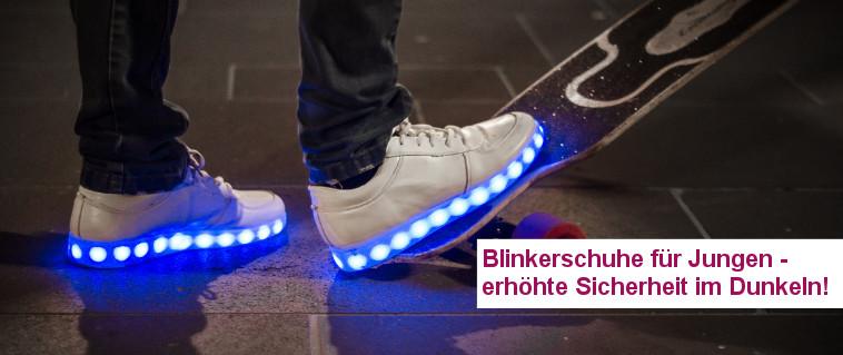 Blinkerschuhe für Jungen - erhöhte Sicherheit im Dunkeln!
