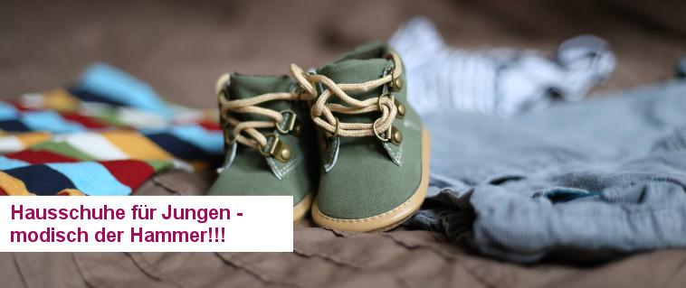 Hausschuhe für Jungen - die halten Kinder mit oder ohne Schnürsenkel prima warm!