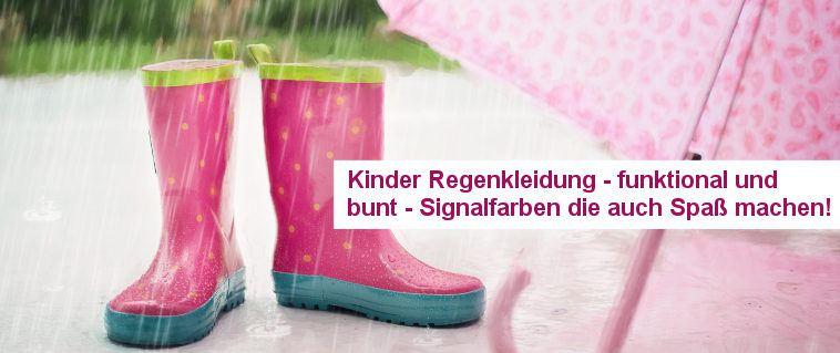 Kinder Regenkleidung - funktional und bunt. Spaßfaktor und noch mehr Sicherheit!