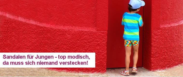 Sandalen für Jungen - top modisch, da muss sich kein Kind verstecken!