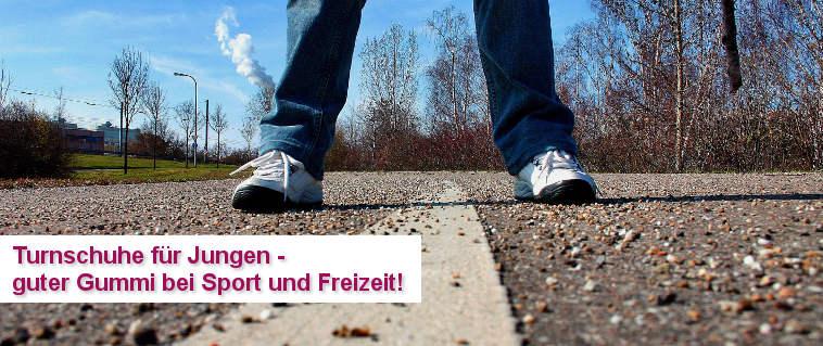 Turnschuhe für Jungen - guter Gummi für Sport und Freizeit!