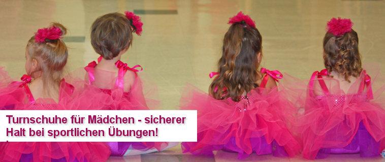 Turnschuhe für Mädchen - ob bei Ballett oder im Kinderturnen - sicherer Halt ist wichtig!