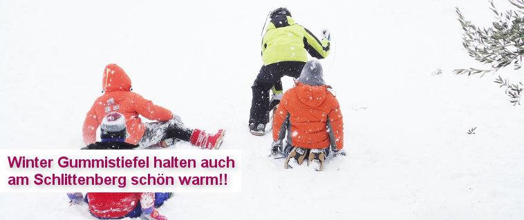 Winter Gummistiefel - halten unsere Kleinen auch am Schlittenberg schön warm!!!