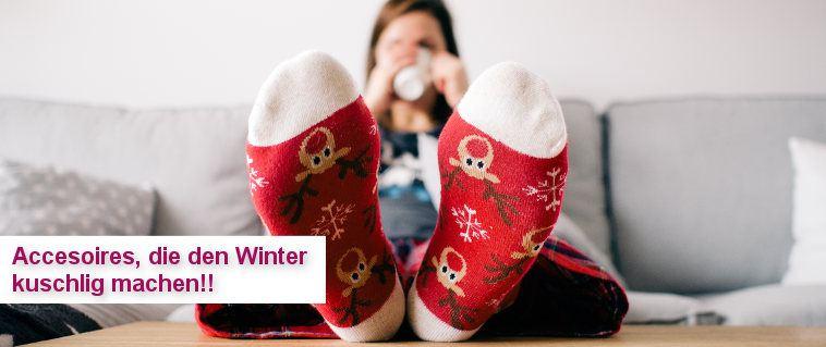 Accessoires, die den Winter kuschlig machen!